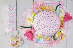 This easy Easter bonnet is great to do with kids. The bonnet is covered in flowers that are snipped from card and easily attached to the hat using double-sided tape. Fun Activities For Kids, Crafts For Kids, Easter Projects, Easter Ideas, Snow White Birthday, Bunny Party, Easter Pictures, Easter Traditions, Easter Colors