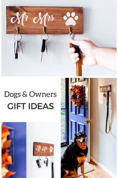Key and Lead Holders and other Wooden Signs by CaramelWoodcrafts Housewarming gifts for happy dog owners.Great selection in our shop. Get your hallway organised. Gifts For Dog Owners, Dog Lover Gifts, Dog Gifts, First Home Gifts, New Home Gifts, Wooden Dog Kennels, Dog Wedding, Wedding Ideas, Rustic Gifts