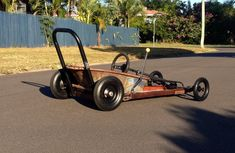 2014 Townsville  billy cart dash wheel barrow racer. Slick racing