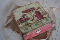 Home sweet Home Vintage Tea Box wooden Tea by iLoveCreations, £27.99