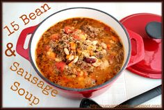 Curry and Comfort: 15 Bean and Sausage Soup