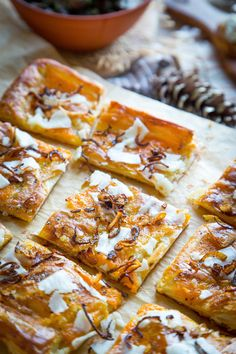 This festive, savory tart is one of those appetizers that always looks super-impressive, but only requires a few simple steps