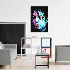"""Michael Jackson 001 (18""""W x 26""""H x 0.75""""D)"""