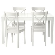 BJURSTA/INGOLF Masă+4scaune - alb - IKEA  pentru bucatarie <3