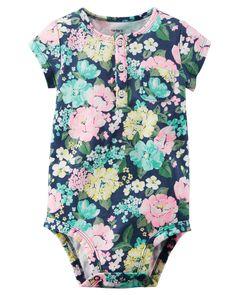 Baby Girl Floral Print Bodysuit   Carters.com