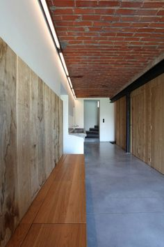 Lens°Ass Architects (BE) - House DM interior - concrete brick plaster wood steel