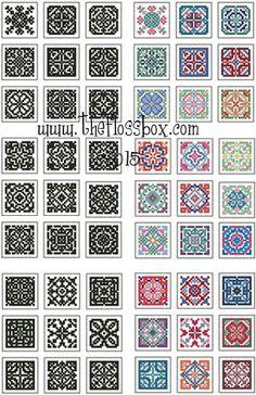 The Floss Box | Mini Biscornu Cross Stitch Collection 1
