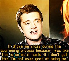Josh is Peeta. Plain and simple.