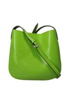Vintage Style Leather Across Body Handbag - Green #green #handbag