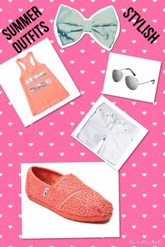 Cute cheap outfits Aeropostale top:$7.99 Justice shorts:$17.45 Journeys toms: $41.00 Aeropostale sunglasses:$5.49