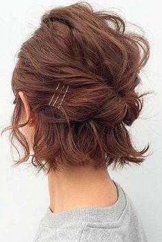 Short Hairdo, Popular Short Hairstyles, Bob Hairstyles For Fine Hair, Short Hair Cuts, Easy Hairstyles, Hairstyle Ideas, Formal Hairstyles, Short Fine Hair, Celebrity Hairstyles