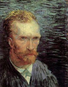 Self-Portrait, 1887 by Vincent van Gogh. self-portrait. Van Gogh Portraits, Van Gogh Self Portrait, Self Portrait Artists, Vincent Van Gogh, Arte Van Gogh, Van Gogh Art, Van Gogh Museum, Art Van, Van Gogh Pinturas