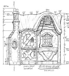 storybook cottage house plans. stock plan from hendricks