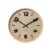 Karlsson Wandklok Pure Wood Black Numbers Ø 45 cm Silver Wall Clock, White Clocks, Silver Walls, Skeleton Wall Clock, Grown Up Bedroom, Funky Home Decor, Desk Clock, Wall Clocks, Large Clock