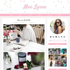 #Pink #Blogger Template: Mae Lynne