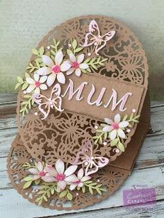 Here is my card this week for Crafter's CompanionI thought I would make some Mother's Day Inspiration,Here in the UK Mother's Day is on Sunday!! I embossed the card inside the easel and along the fr