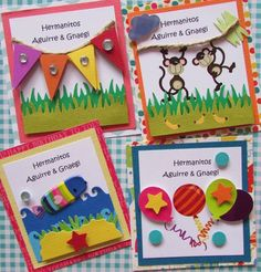 Tarjetas de presentación niños