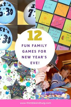 Fun Family Activities and Games for a Fabulous Family New Year's Eve. Fun ideas for family party games and activities for the whole family to enjoy! New Year's Eve Games For Family, Family New Years Eve, Family Games To Play, New Years Eve Games, New Year's Games, Games To Play With Kids, Family Party Games, New Years Eve Party Ideas For Family, Youth Games