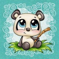 Digital Stamps : Digital stamp, scrapboking, crafts, doodles, cliparts & templates by The Paper Shelter Panda Love, Cute Panda, Panda Bear, Cartoon Drawings, Cute Drawings, Cartoon Art, Cute Images, Cute Pictures, Belly Painting