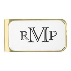 Monogrammed Money Clip is a sophisticated gift perfect for birthdays, holidays, Father's day, weddings and more. Available in three finishes: silver, gold or gunmetal.