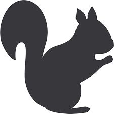 Afbeeldingsresultaat voor silhouette eekhoorn