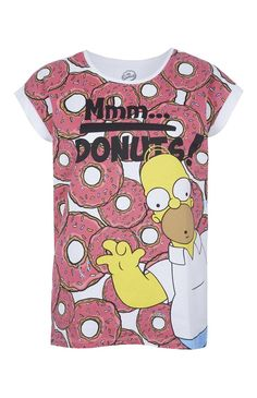 T-shirt The Simpsons Homer Donuts