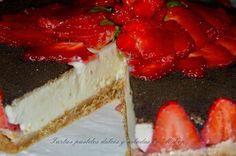 Una tarta irresistible: de queso y chocolate blanco. ¡Tienes que probarla!
