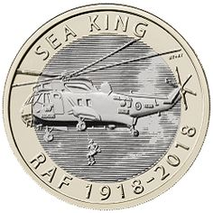 2018 RAF Sea King Coin - Mintage: Not entered general circulation Rare British Coins, Rare Coins, Timbre Collection, English Coins, Gold Reserve, Money Notes, Canadian Coins, Metal Prices, Coins Worth Money