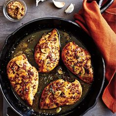 Maple-Mustard Glazed Chicken | The tangy-sweet flavor combination of this sauce will work equally well with chicken thighs or pork. Serve with hot cooked rice and steamed haricots verts or a tossed green salad.