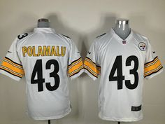 Steady Nfl Pittsburgh Steelers 43 Polamalu Black Jersey Shirt Men L Large Activewear Tops Men's Clothing