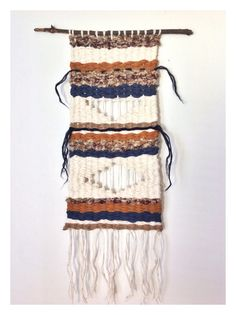 Hand woven wall hanging drown by WilderThanGoods on Etsy