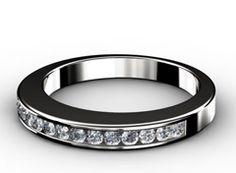 Diamant Ehering Eminenz, 750er Weißgold 18 Karat