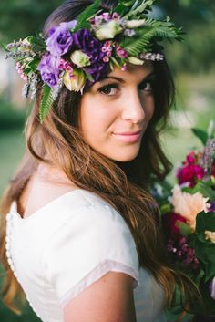 Dreamy Garden Bridal Shoot + Amazing floral crown! | Jenna Bechtholt Photography