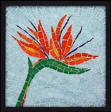 Trendy bird of paradise pattern stained glass Mosaic Tray, Mosaic Pots, Mosaic Birds, Mosaic Flowers, Pebble Mosaic, Stone Mosaic, Mosaic Glass, Fused Glass, Mosaic Artwork
