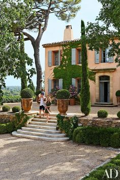 """Domaine Chanceler""   This is a real treat: the glamorous vacation home of Aix-en-Provence-born celebrity hairstylist Frédéric Fekkai and his wife Shirin von Wulffen's lavender-filled estate in the So"