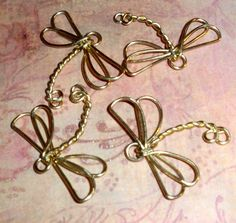 Handmade Brass Dragonfly Charm Connection by WickedlyWired on Etsy, $5.00