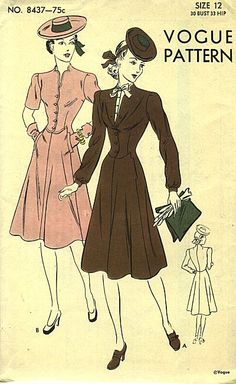 Love, and would completely wear, them both (Vogue 8437). #vintage #sewing #pattern