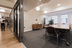 A view from the outside of the large board room. London W1, Co-working, 12,000 sq ft