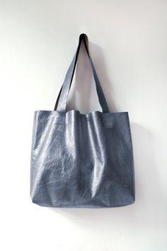 P E W T E R Metallic Leather Tote Essential by GiftShopBrooklyn, $88.00