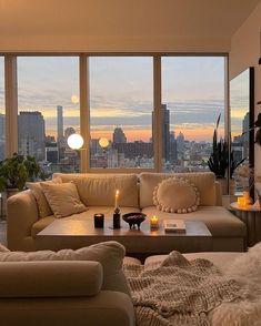 Apartment View, New York City Apartment, Dream Apartment, Apartment Living, City Apartment Decor, City Apartments, Apartment Goals, Parisian Apartment, Condo Living
