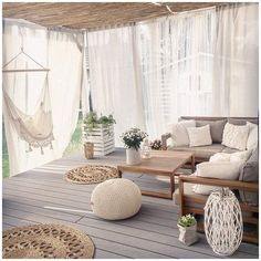 Sofa Design, Interior Design, Types Of Furniture, Diy Furniture, Outdoor Furniture, Terrazas Chill Out, Outdoor Drapes, Rustic Outdoor Decor, Garden Sofa Set