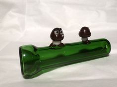 Handmade Glass Pipe!    Skip ahead to your favorite levels with the Goomba Warp Pipe! It is 3 and a half inches long with small Goomba statutes