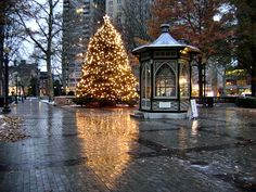 Rittenhouse Square during Christmas.
