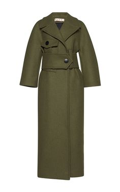 Oversized Belted Coat by MARNI for Preorder on Moda Operandi
