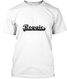 Reggie Classic Retro Name Design White T-Shirt Front - This is the perfect gift for someone who loves Reggie. Thank you for visiting my page (Related terms: I love,I heart Reggie,I love Reggie,Reggie Classic Style Name,Reggie,Reggie,Reggie rocks,First Names ...)