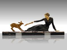 Online veilinghuis Catawiki: Menneville - Art Deco bronzen sculptuur