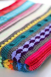 Different stitches blanket