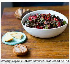 Creamy Maple Mustard, Raw Chard Salad: Simple Salad Success.
