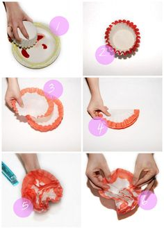 coffee filter flowers - I have made something like this before, so very easy and fun!