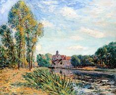 Alfred Sisley - Atardecer en Moret